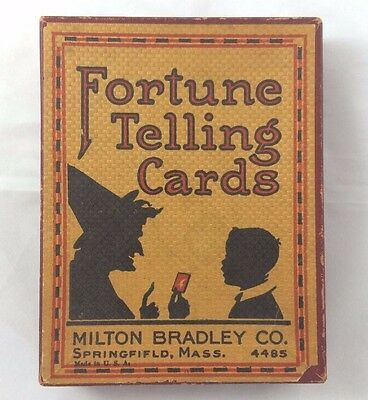 1908 Antique  FORTUNE TELLING CARD GAME  Milton Bradley Co.