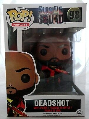 DEADSHOT 98 Funko POP Suicide Squad DC WB vinyl figure New In Package HARD FIND