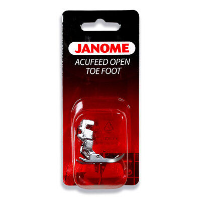 Janome 7mm Acufeed Open Toe Foot - Quilting, Applique, Cutwork, MC6600/7700