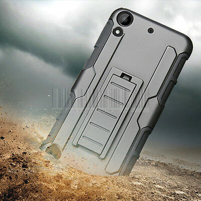 Heavy Duty Rugged Hybrid Shockproof Hard Tough Case Cover For HTC Desire 530