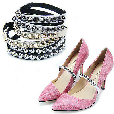 Shoe decor,Punk style Shoe Straps Laces Band for holding loose high heeled shoes