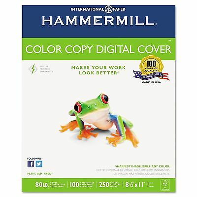 Hammermill - Color Copy Digital Cover Stock, 8-1/2 x 11, White - 250 Sheets New