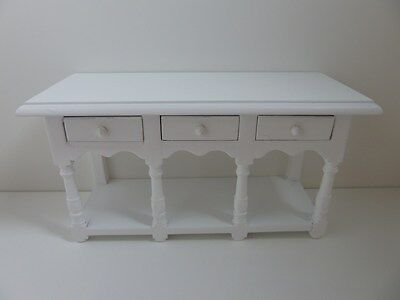 Dolls House Miniature 1:12 Scale Lounge Kitchen Furniture White Sideboard (4197)