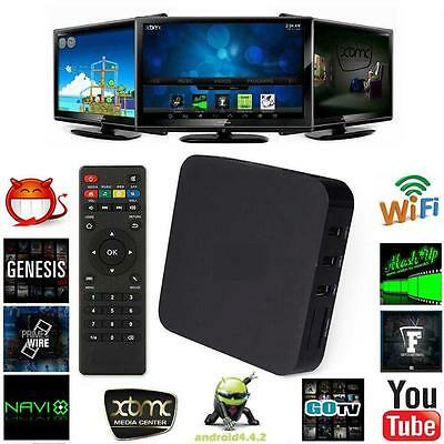 New Android 4.4 Quad-Core WiFi 1080P Smart TV Box 8GB Fully Loaded