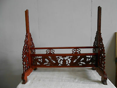 Chinese Large Wooden Tile Or Panel Stand