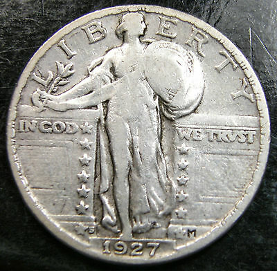 1927-S United States Of America, Standing Liberty Silver Quarter Dollar Coin