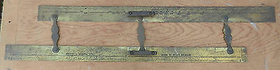 Antique KELVIN & HUGHES Parallel Nautical Navigational Rule Solid Brass Brit. B3