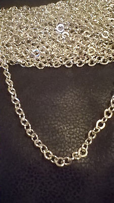 """JEWELLERY FINDINGS CHAINS - 48 x 18"""" SILVER COLOURED CHAINS WITH LOBSTER CLASPS"""