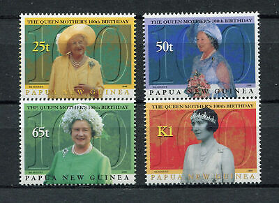 s8548) PAPUA & NEW GUINEA MNH** Nuovi** 2000, Queen mother 4v