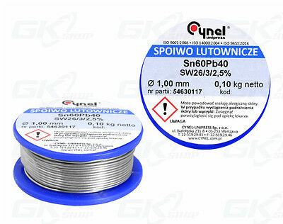 100g Tin Lead Solder Wire 1mm LC60-SW26