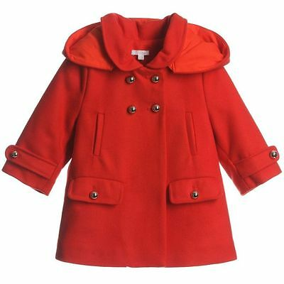 Chloe Baby Red Wool Cashmere Coat 2 Years