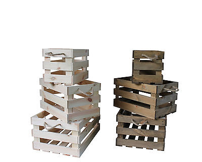 Vintage style apple crate wooden box display