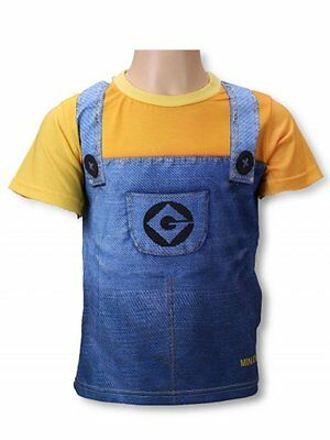 OFFICIAL BOY GIRLS Despicable me minions T-SHIRT LOTS OF DETAIL LICENSED PRODUCT