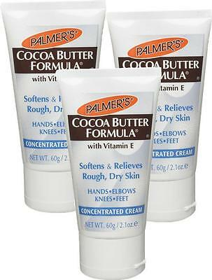 Palmers Cocoa Butter Formula Cream 60g x3 TRIP PACK - Ideal For Hands,Knees,Feet