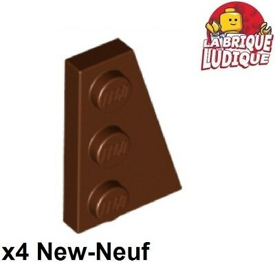 Lego 4x Aile Wedge plate 4x2 droite right rouge foncé//dark red 41769 NEUF