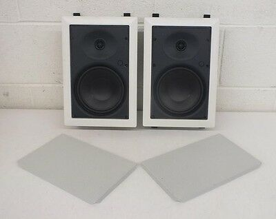 Pair Sonance C101 High-Quality 2-Way In-Wall/In-Ceiling Speakers White GREAT