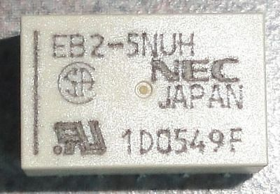 x5 RELAY EB2-5NUH Low Signal Relays - PCB 5VDC NON-LATCH (NEW)