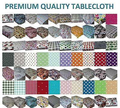Wipe Clean Pvc Vinyl Tablecloth Dining Kitchen Garden Table Cover Protector