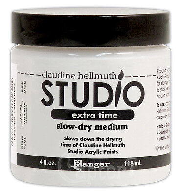 1 barattolo da 118 ML di STUDIO EXTRA TIME SLOW-DRY MEDIUM Ranger CLAUDINE HE...