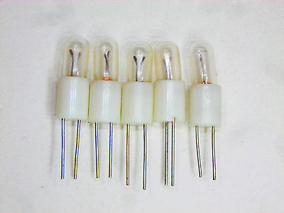 Miniature Wire Lead Lamp with base 8V 200mA 5  pcs