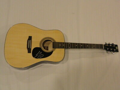 Lee Brice Signed Full-Size Natural Acoustic Guitar Country Superstar