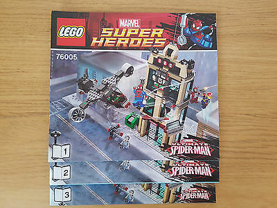 LEGO MARVEL SUPER HEROES - 76005 Daily Bugle Showdown  - INSTRUCTION MANUAL ONLY