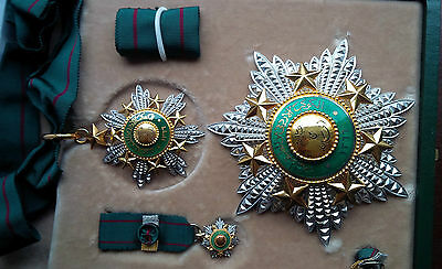 1949 Order of the Star of Jordan Complete Set Medal Badge Wissam Nichan Kawkab