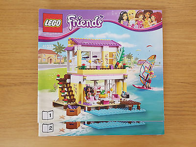 LEGO FRIENDS - 41037 Stephanie's Beach House - INSTRUCTION MANUAL ONLY