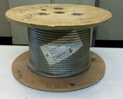 """Steel Wire Rope Cable 10mm (.393"""" Diameter) 171 ft NEW (GARF1)"""