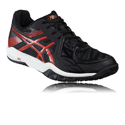 Asics Gel-Fastball 2 Mens Red Black Indoor Court Squash Shoes Trainers