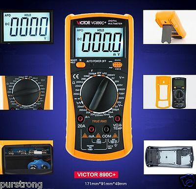VICTOR VC890C+ Display Multi-Tester Digital Multimeter AC/DC Volt Ohm Ammeter