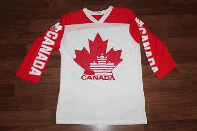 Vintage TEAM CANADA Ice Hockey THROWBACK JERSEY ** Made in CANADA size M L@@K