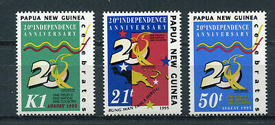 s8592) PAPUA & NEW GUINEA MNH** 1995, Independence 3v