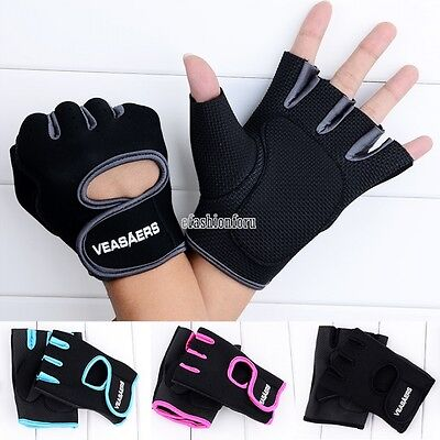 Gym Weight Lifting Workout Exercise Body Building Training Half Finger Gloves