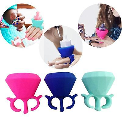 Creative Flexible Milti Wearable Nail Polish Bottle Finger Holder For Women