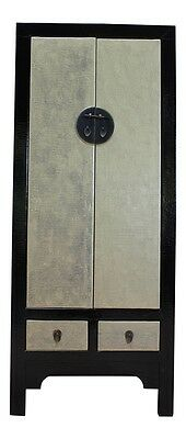 Black | Gold Wedding Cabinet Wardrobe Cabinet China Solid Wood Furniture Asia