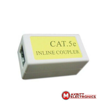 RJ45 Cat5e Network LAN Cable Joiner Coupler Extender Adapter Connector