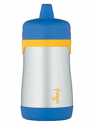 Thermos Foogo Phases Double Wall Insulated Stainless Steel Sippy Juice Cup, Blue
