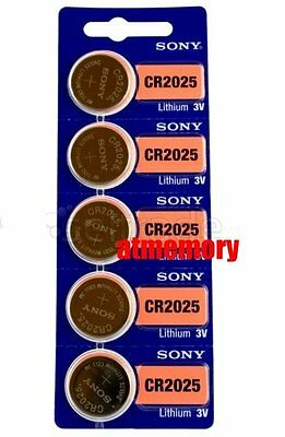 Sony CR2025 CR 2025 3V Coin Cell Battery x 5pcs Brand New Genuine