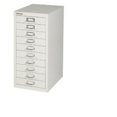 2 x BISLEY - 10 MULTI DRAWER FILING CABINETS - BRAND  NEW - GREY