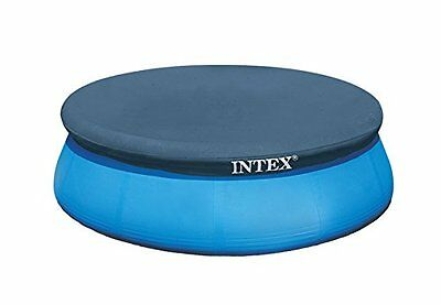 Intex easy set pool cover with a tight fitting over the pool and rope - 8ft
