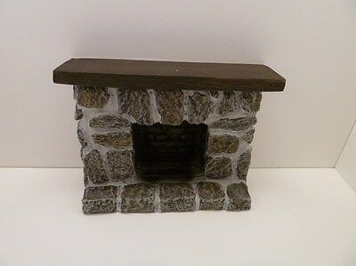Dolls House Miniature 1:12 Scale Lounge Furniture Resin Fieldstone Fireplace