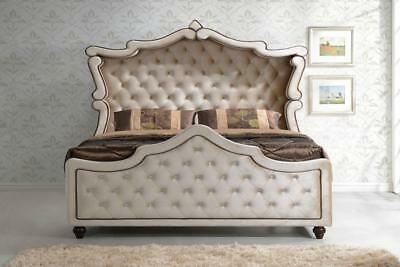 Meridian Diamond Canopy Queen Size Bedroom Set Chic Contemporary 2 Night Stands