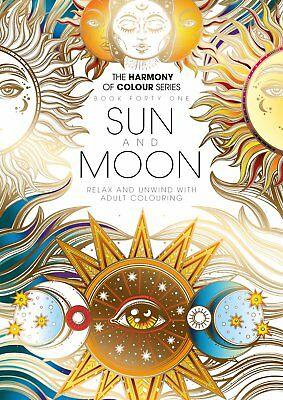 Harmony of Colour Book 41 Sun and Moon - Adult Colouring 36 Designs - NEW