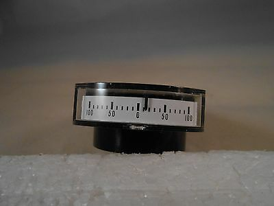 3200-872   Side  Dc Ammeter  100-0-100   Lear Pn: 116080  New Old Stock