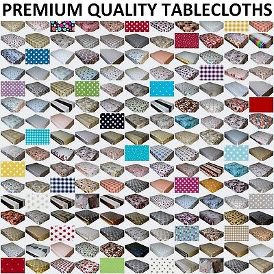 Wipe Clean Tablecloth Pvc Vinyl Oilcloth Wipeable Table Cover Protector