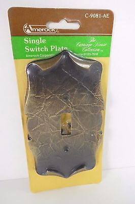 Amerock Carriage House Paper Scroll Single Toggle Switch Plate Brass C-9081-AE