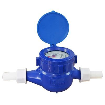 15180515 Budget Plastic Garden Water Flow Measuring Meter 15MM Cold Counter
