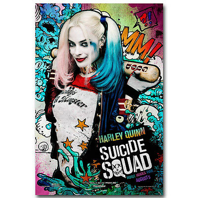 Suicide Squad Superheroes Movie Silk Poster 13x15 32x36inch J107 Harley Quinn