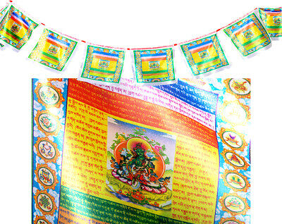 Tibetan Buddhist Prayer Flag 135 Inch Long Colorful King Gesar Auspicious Flag